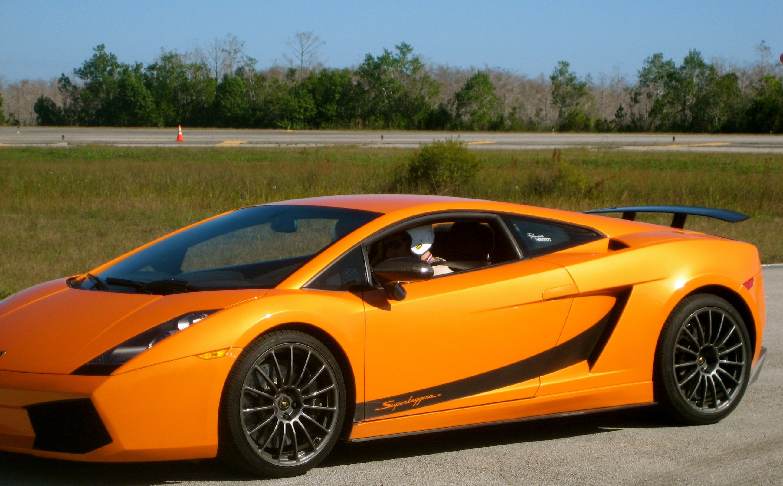 a Lamborghini at 200 mph
